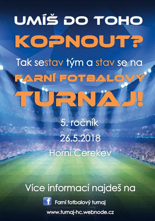 Farní fotbalový turnaj v Horní Cerekvi
